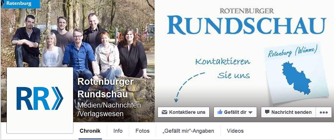 Jetzt ist die Redaktion der Rotenburger Rundschau auch auf Facebook vertreten.