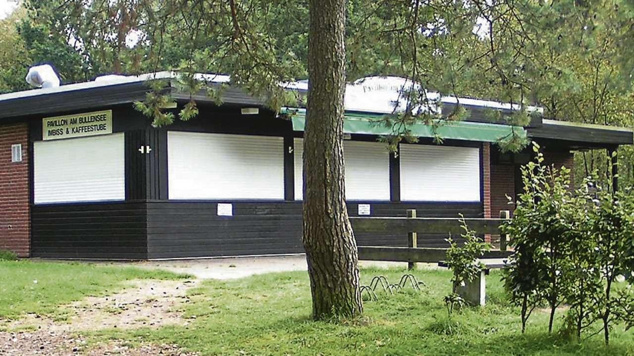 Die Jalousien des Bullensee-Pavillons bleiben vorerst unten.