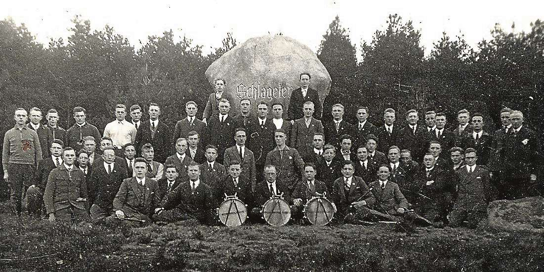 Einweihung Schlageter-Denkmal auf dem Höllenberg im Jahr 1926