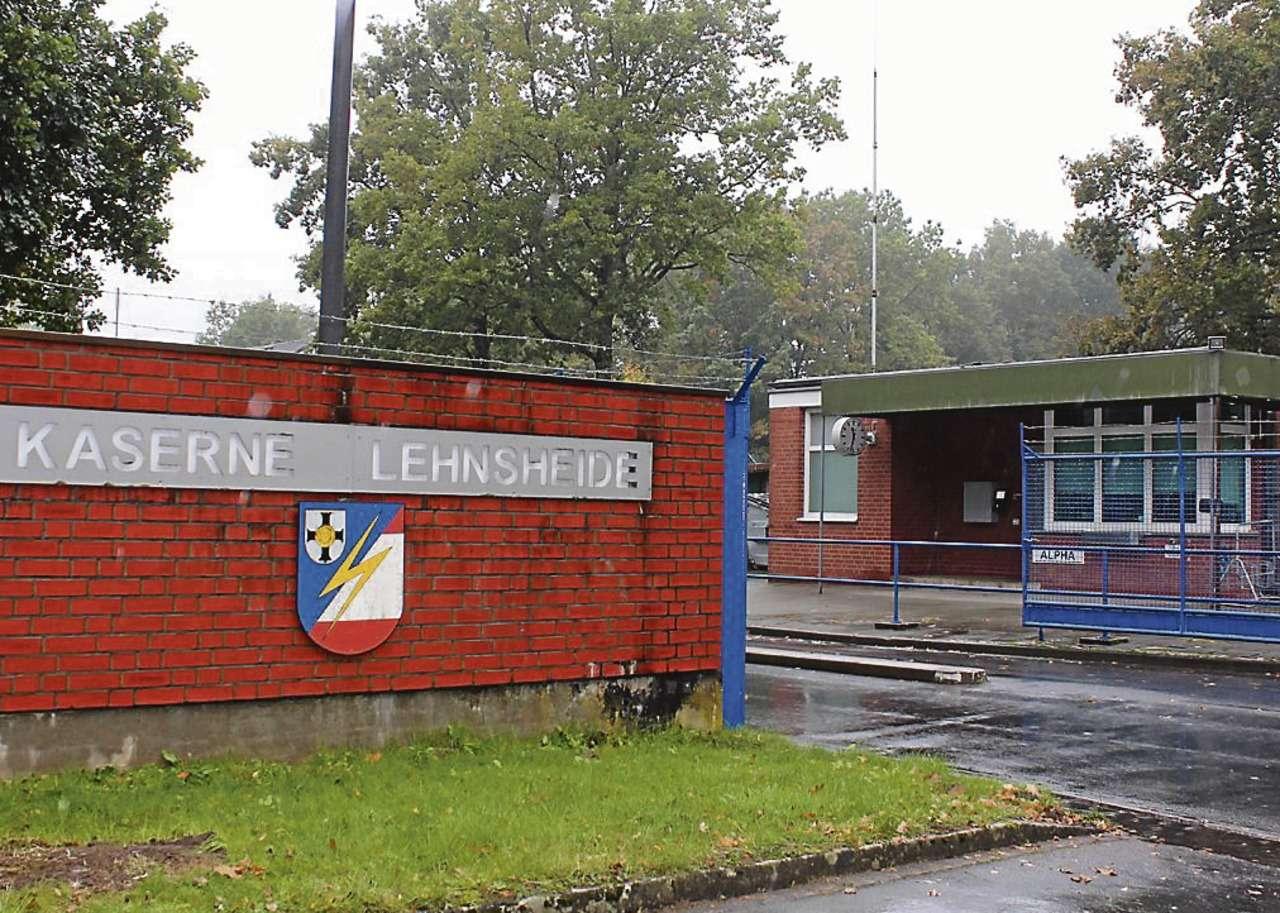 Die Kaserne Lehnsheide wird zur Notunterkunft für 300 Flüchtlinge.