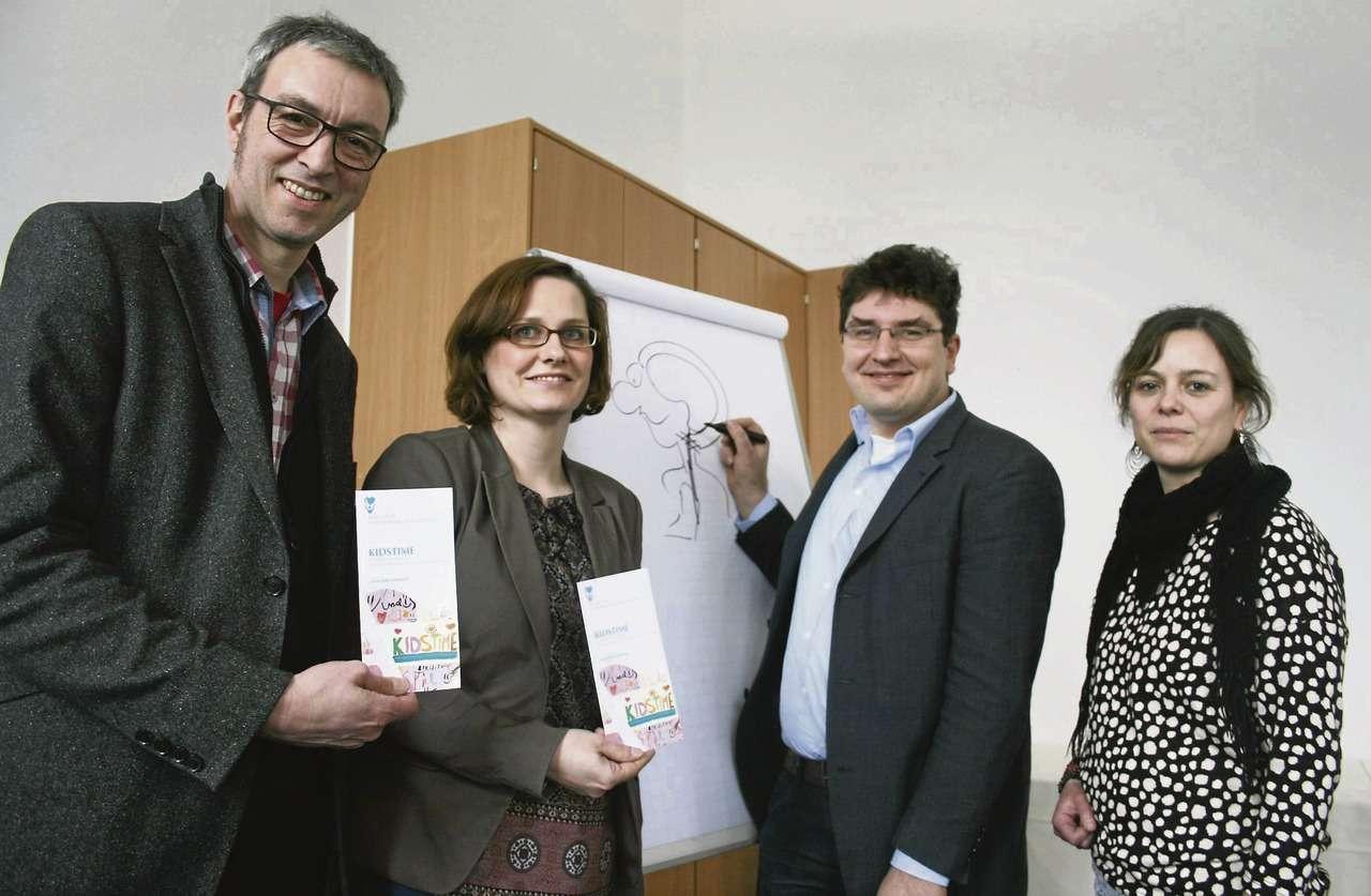 Heinrich Hahn (von links), Sandra Schmidt, Henner Spierling und Daniela Wolter begleiten das Projekt