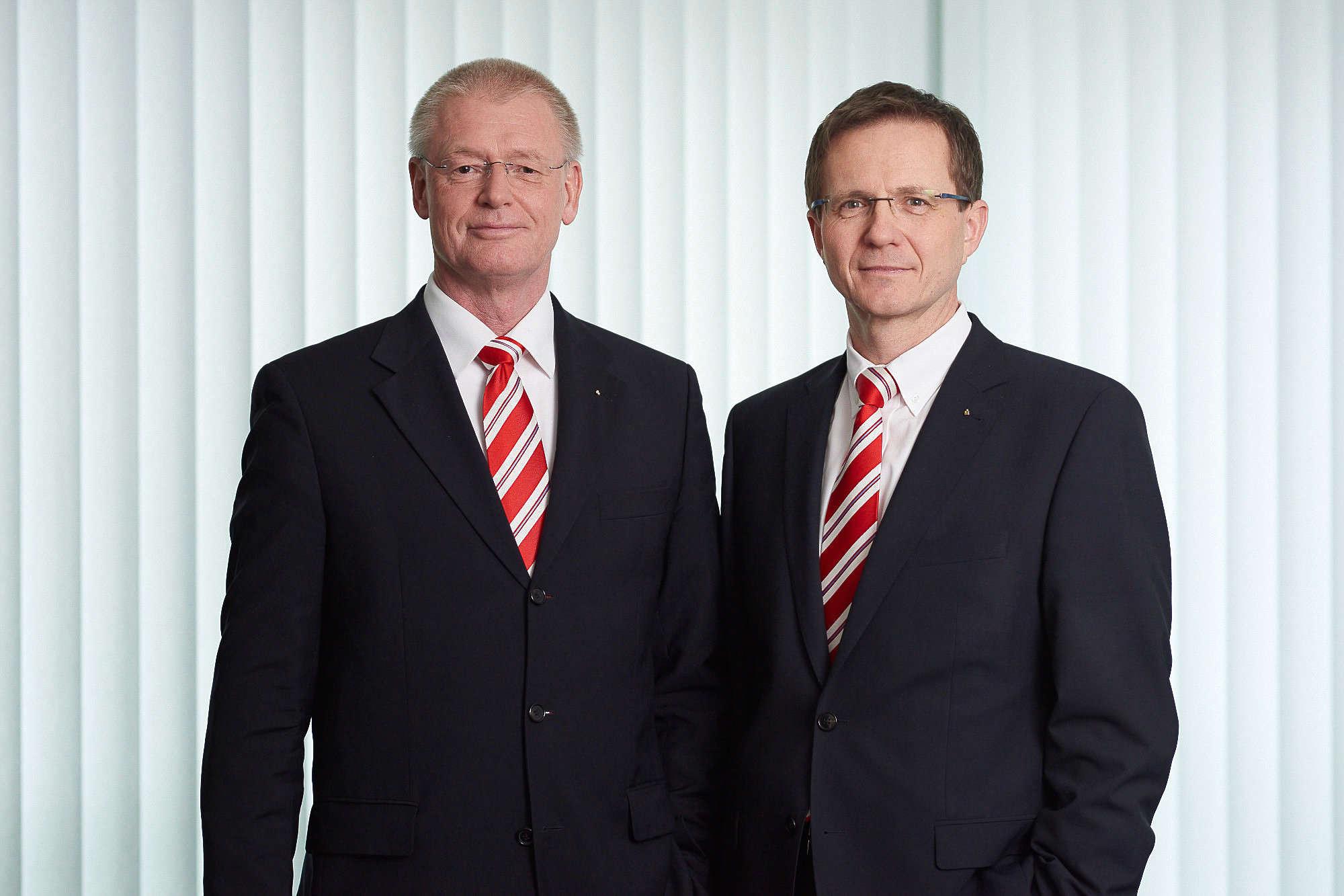 Reinhard Krüger (links) und Stefan Kalt sehen die Veränderungen im Geschäftsstellennetz als Spagat.