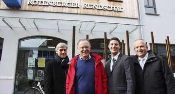 Ministerpräsident Stephan Weil radelt durch Rotenburg  Von Nina Baucke