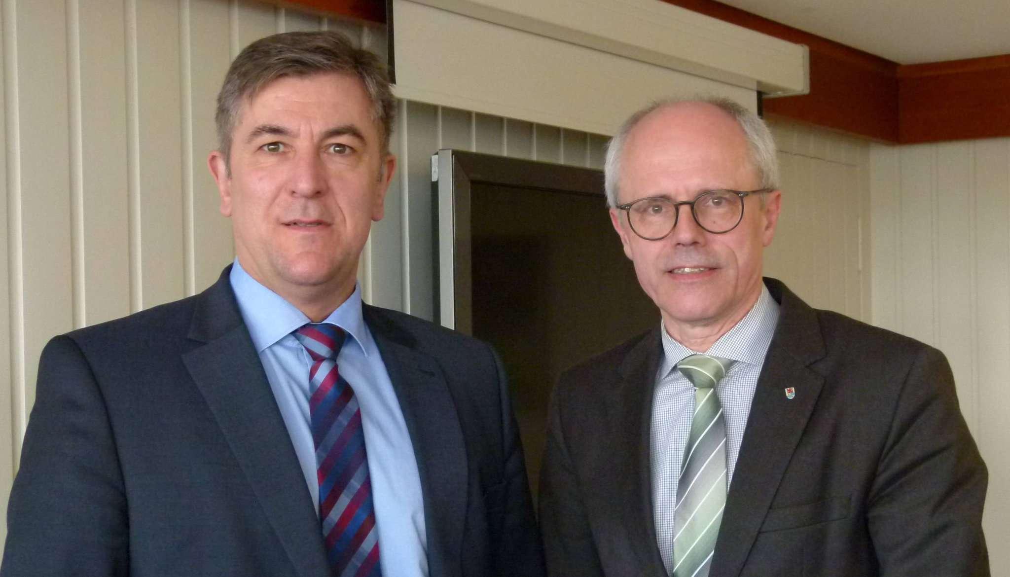Siegfried Ristau (links) und Hermann Luttmann stellten das Zukunftskonzept vor.