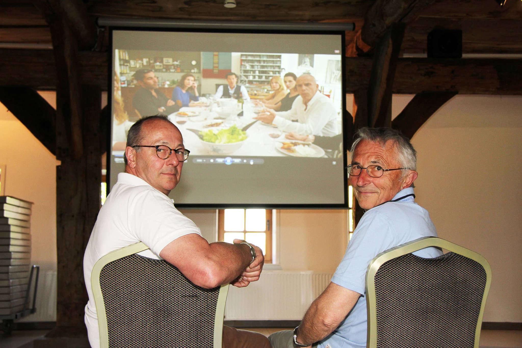 Wilhelm Meyer (links) und Jürgen Schmidt freuen sich auf die Premiere mit dem französischen Kinofilm