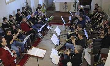 Opus4Ensemble besucht Kirchwalseder Posaunenchor