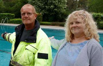 Ralf und Sabine Buchholz freuen sich auf den Start im Freibad