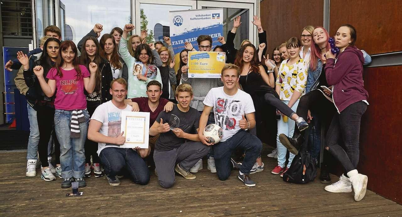 Die glücklichen Gewinner der Fintauschule Lauenbrück