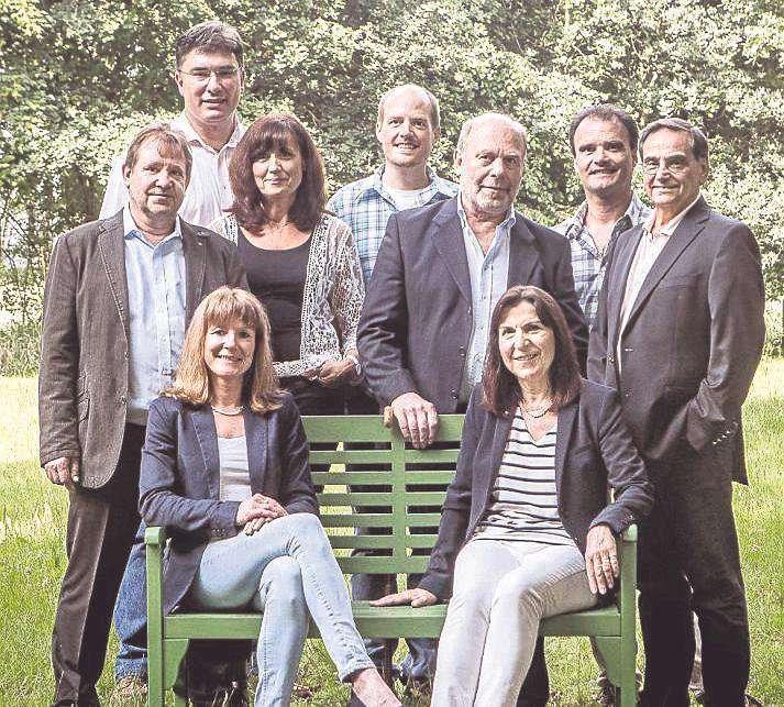 Diese neun und vier weitere Grünen-Politiker stellen sich für die Kommunalwahlen im September zur Wahl.