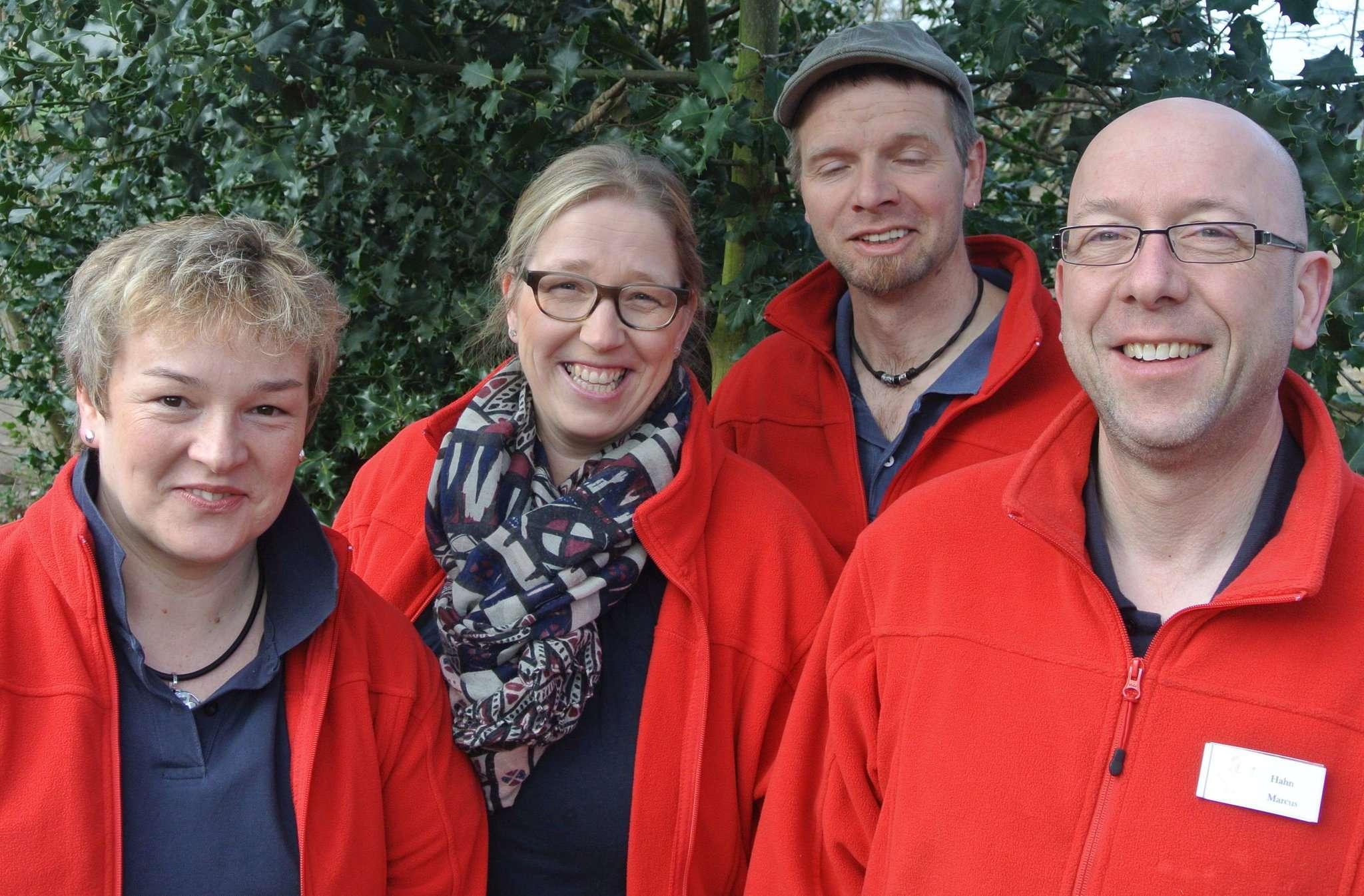 Dagmar Petersen (von links), Silke und Jens Gebhardt sowie Marcus Pattschull wollen die Organisation nun weitergeben.