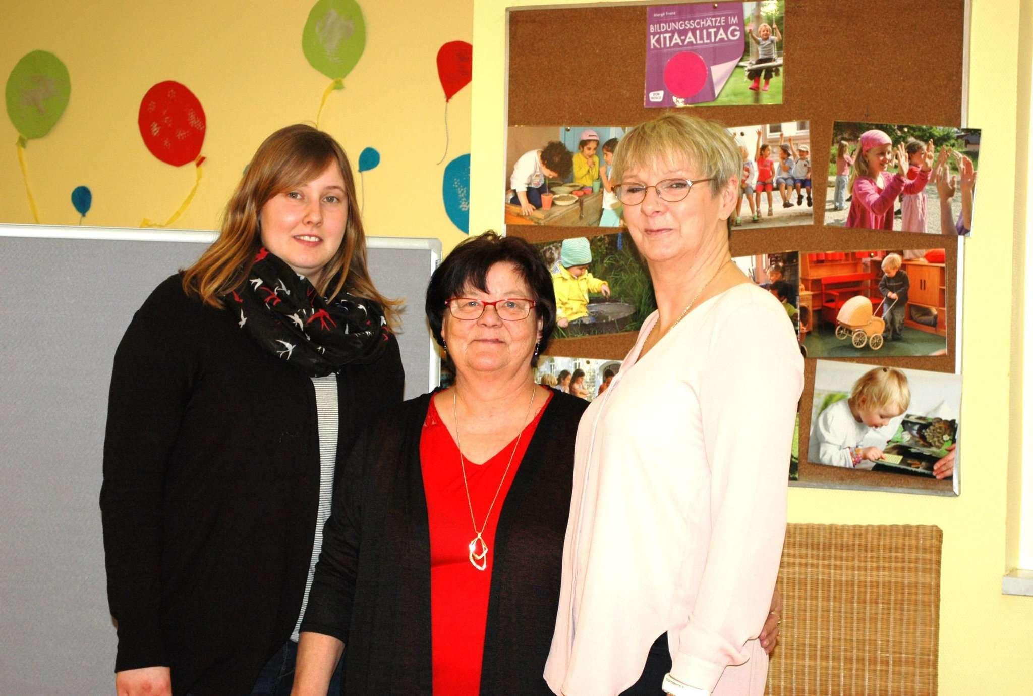 Hätten gerne weiter zusammen gearbeitet: Julia Schreiber (von links), Dagmar Schott und Sabine Kalweit Fotos: Jens Lou00ebs