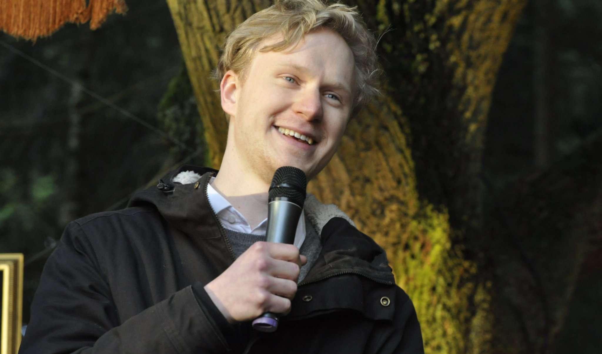 Jasper Diedrichsen bei seinem Landpark-Auftritt vor acht Jahren. Foto: Heyne