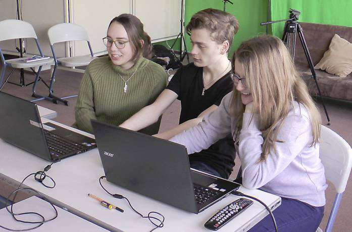 In 120 Stunden zum perfekten Schnitt: Franka Pohl, Tobias Postler und Anastasia Trippel nahmen sich viel Zeit für den Film.
