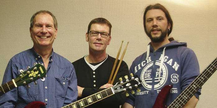 Die Dozenten des Pop- und Rockmusik-Workshops: von links Jürgen Kolbe, Jörg Meyer und Pat Dalton.