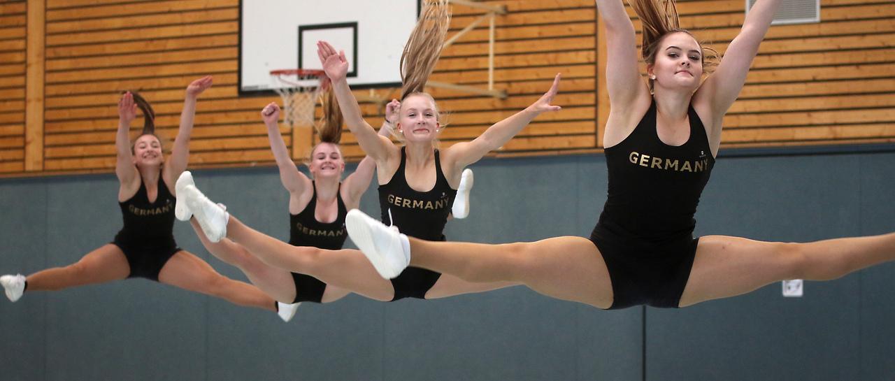 Bis zum Wettkampf am 22. September feilen die Turnerinnen an den beiden Choreografien.
