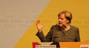 CDUWahlkampf Angela Merkel spricht in Bad Fallingbostel  Von Henning Leeske