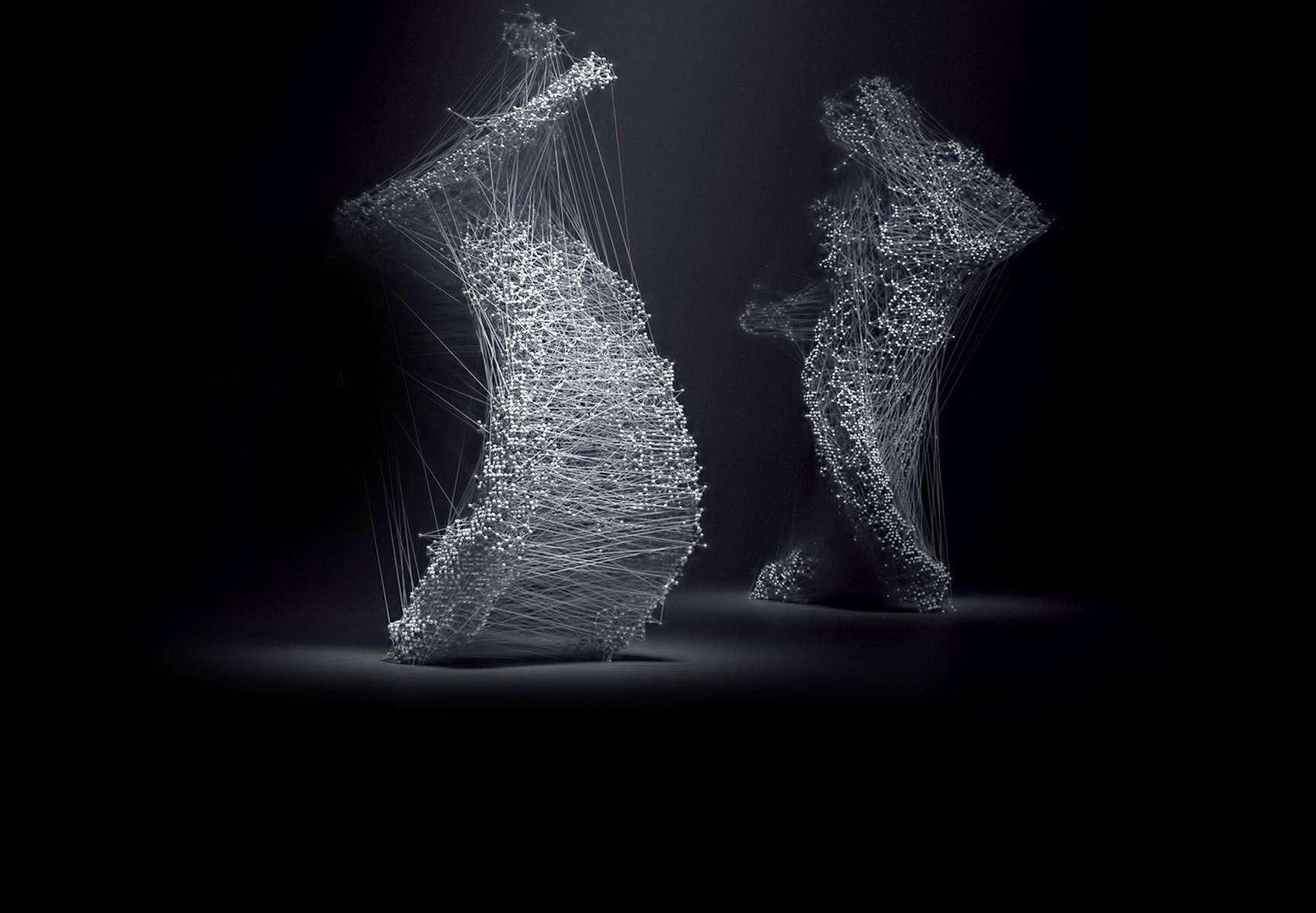 Künstler Michael Hawk versetzt das Duett digital in Bewegung.
