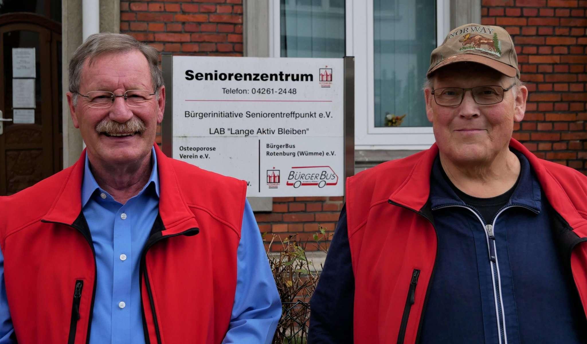 Ein eingespieltes Duo: Bernhard Franz (rechts) und Karl Döhmer.
