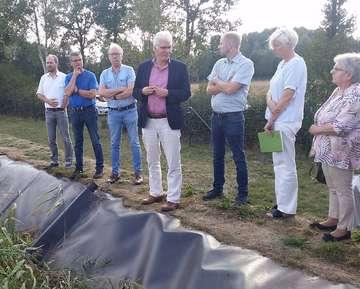 Ausschuss besucht Klärschlammvererdungsanlage  Von Henning Leeske