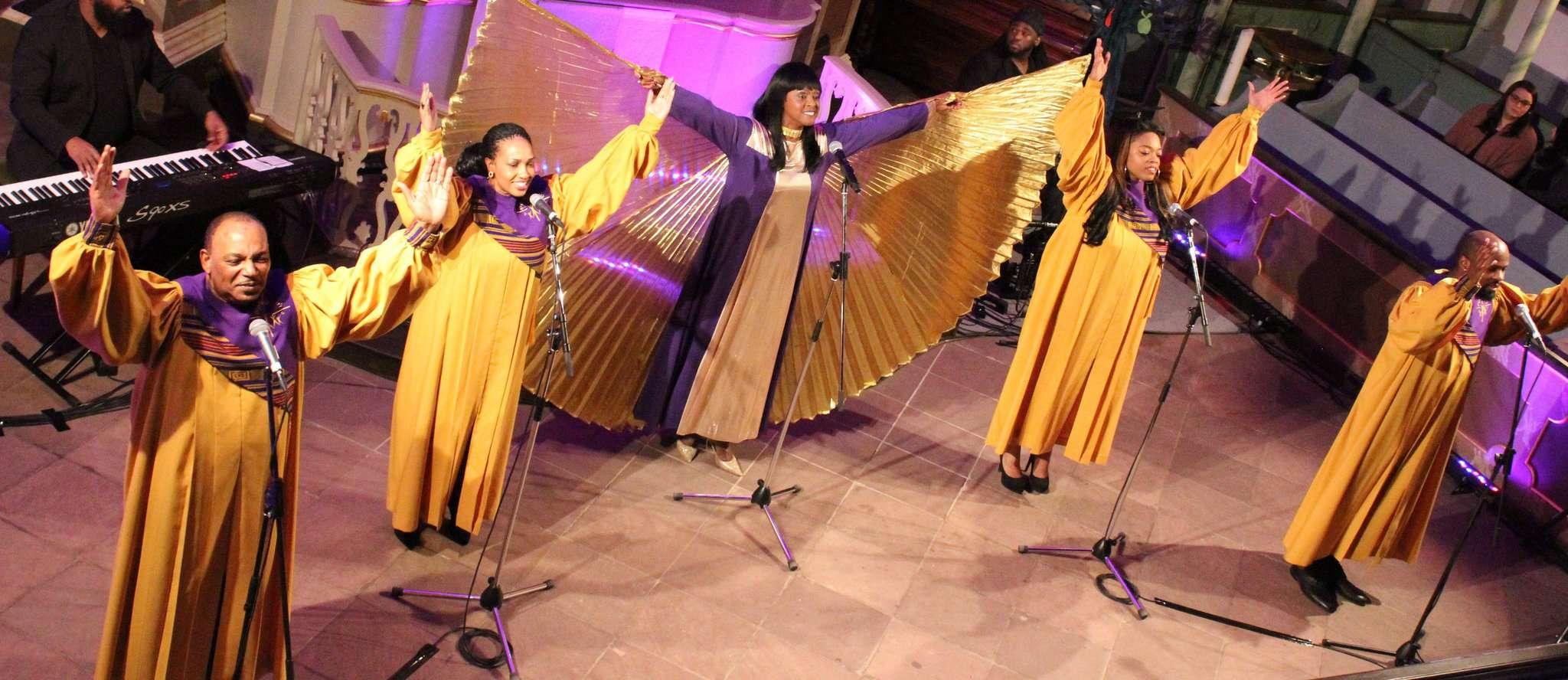 Rose Watson (Mitte) und ihre Black Gospel Angels kommen zu einem weiteren Konzert in die St.-Lucas-Kirche in Scheeßel. Archivfoto: Ann-Christin Beims
