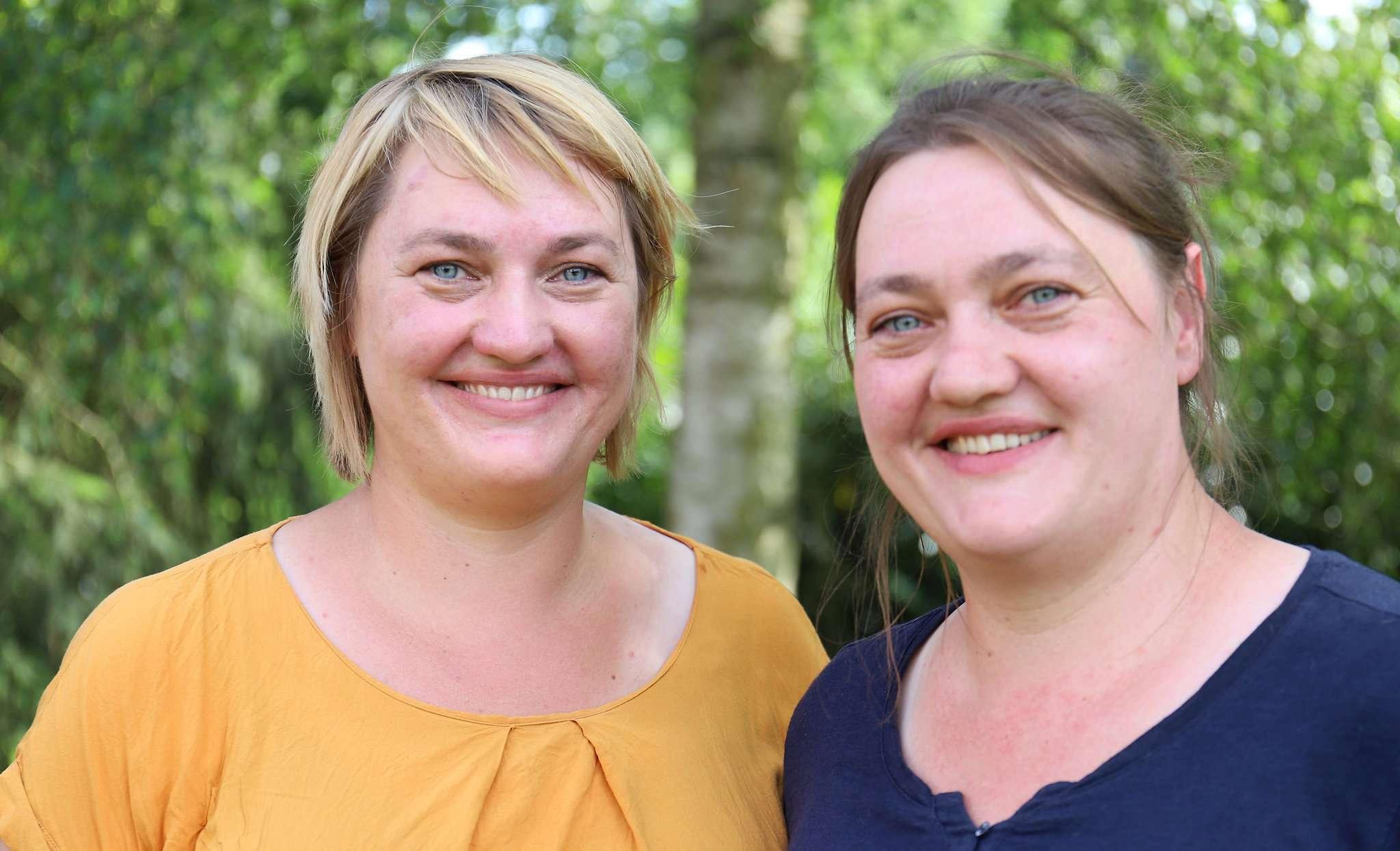 Antje (links) und Anja Doil wollen im Herbst einen Unverpackt-Laden in Rotenburg eröffnen.