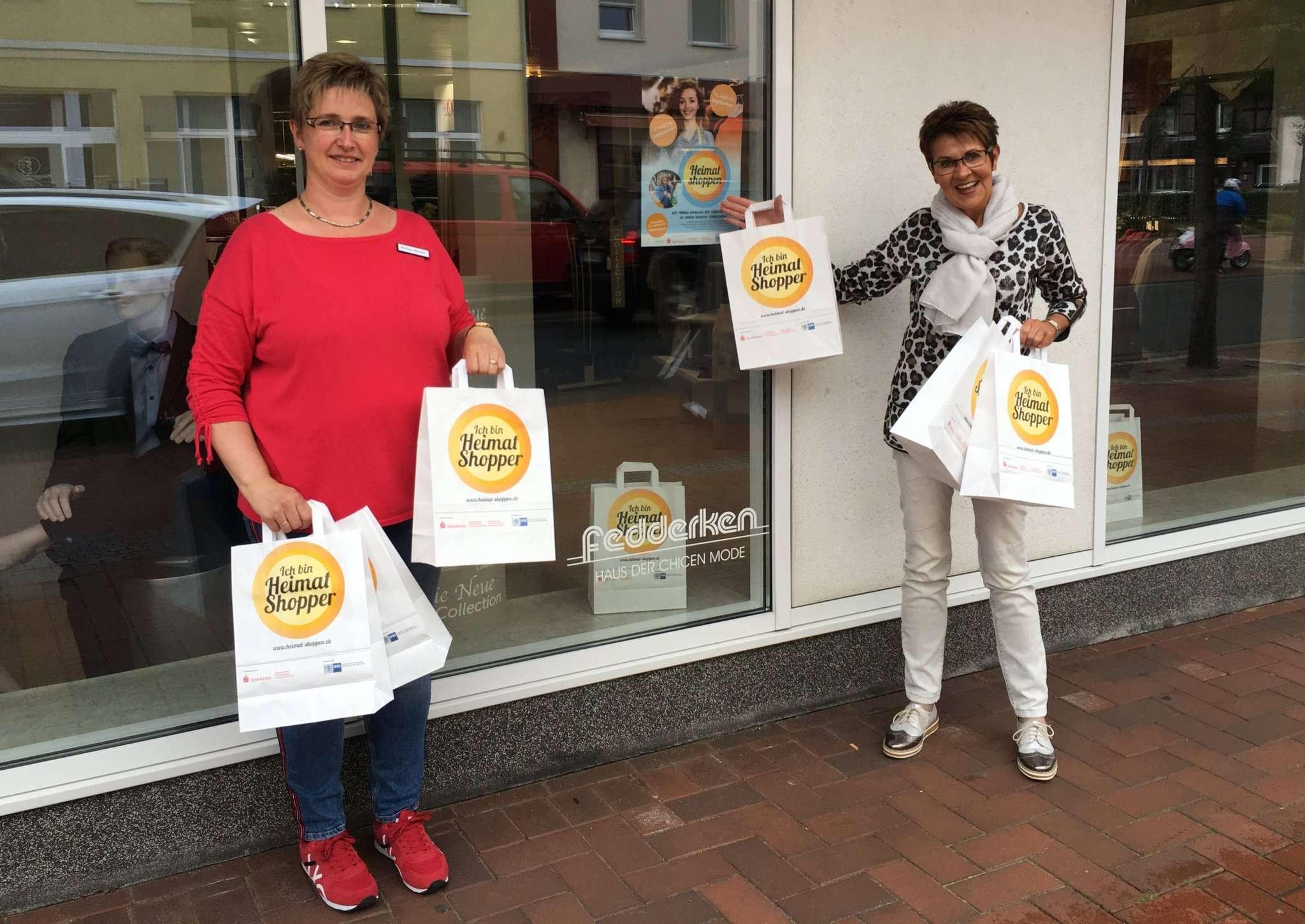 Barbara Beneke (links) und Nicole Fedderken-Pries freuen sich auf die Kunden, die zum