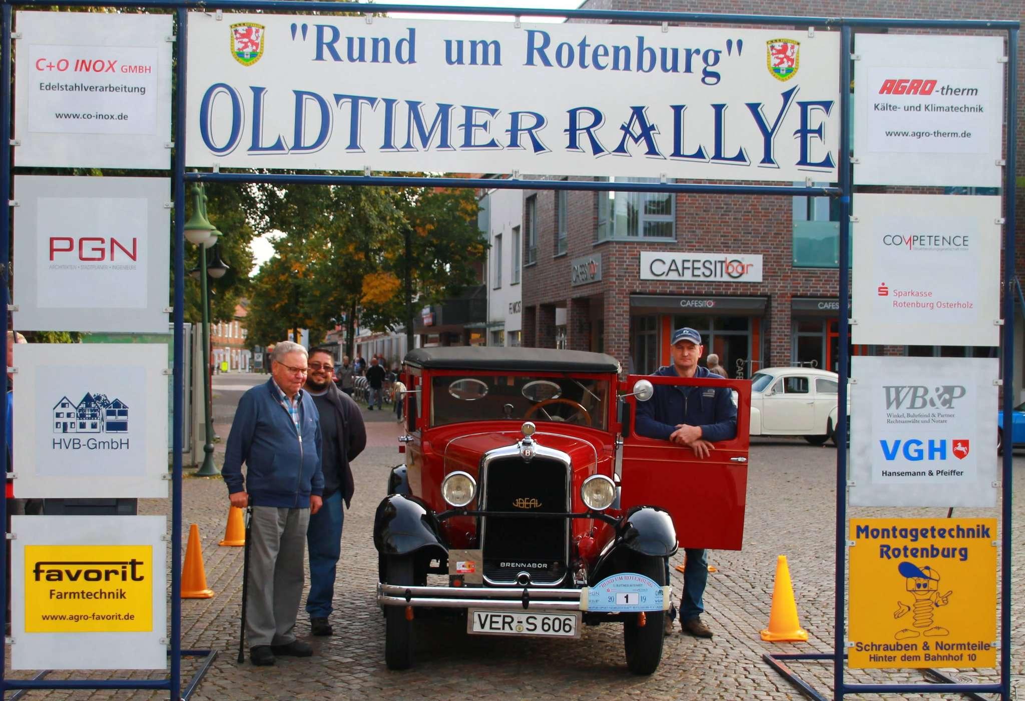 Der Brennabor Ideal aus dem Jahr 1928 war das älteste Fahrzeug bei der Oldtimer-Rallye.
