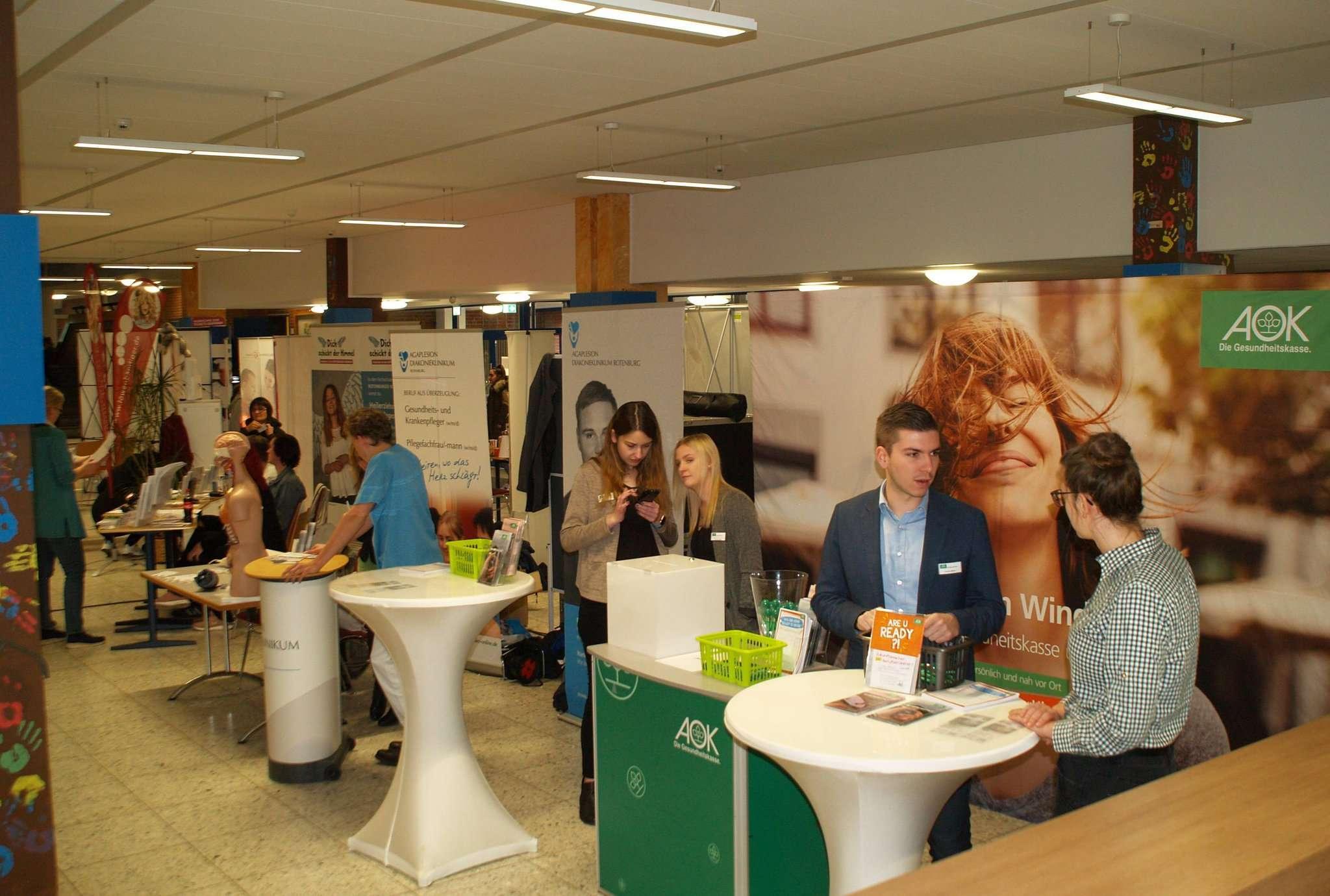 Viele Betriebe präsentierten sich bei der Ausbildungsmesse.