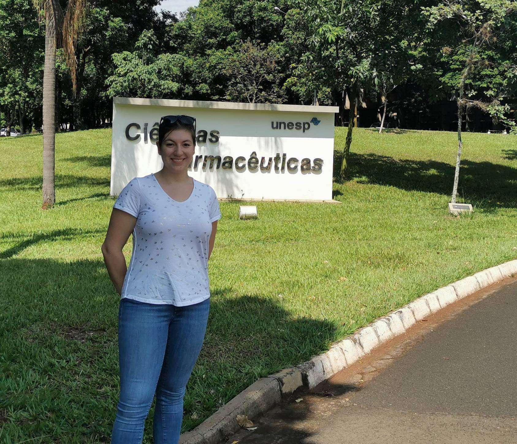 Theresa Meyer forschte im März einige Wochen an der Su00e3o Paulo State University an EHEC-Erregern.