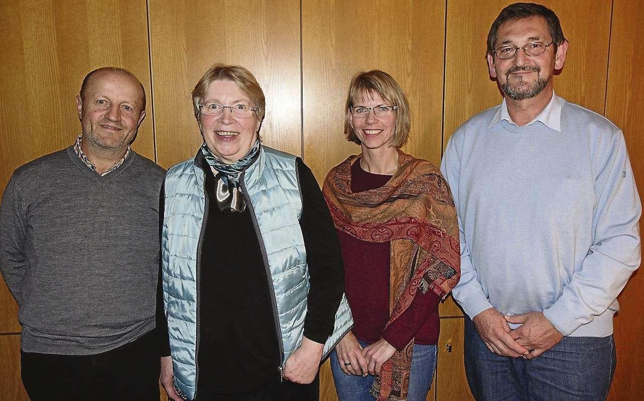 Sind noch auf der Suche nach neuen Mitgliedern: Vorsitzender Paul Göttert (von links), Kassenwartin Christa Radde, Schriftführerin Corinna Barkholdt sowie Stellvertreter Franz Wenzl.