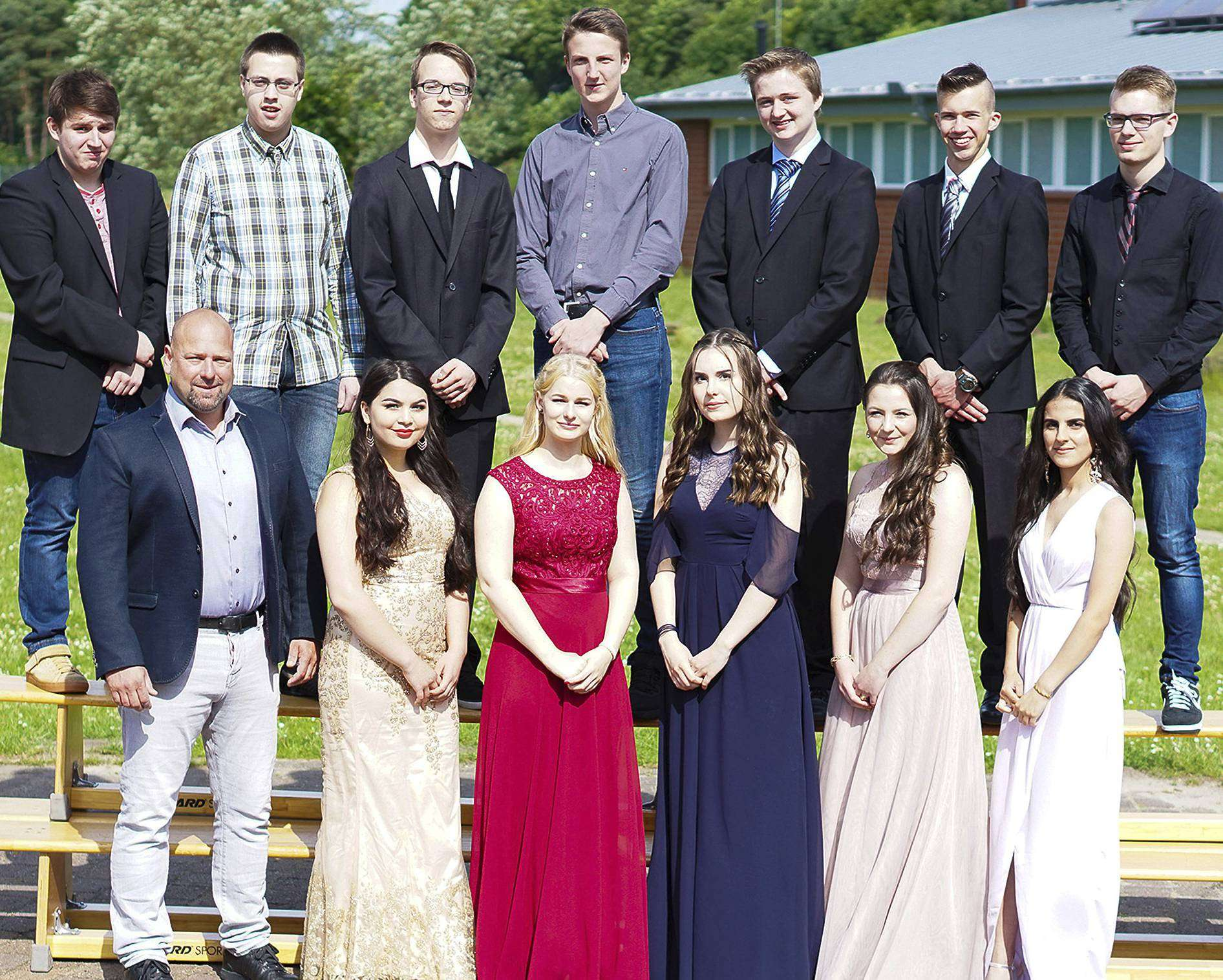 Die Abschlussklasse 10a der Fintauschule.