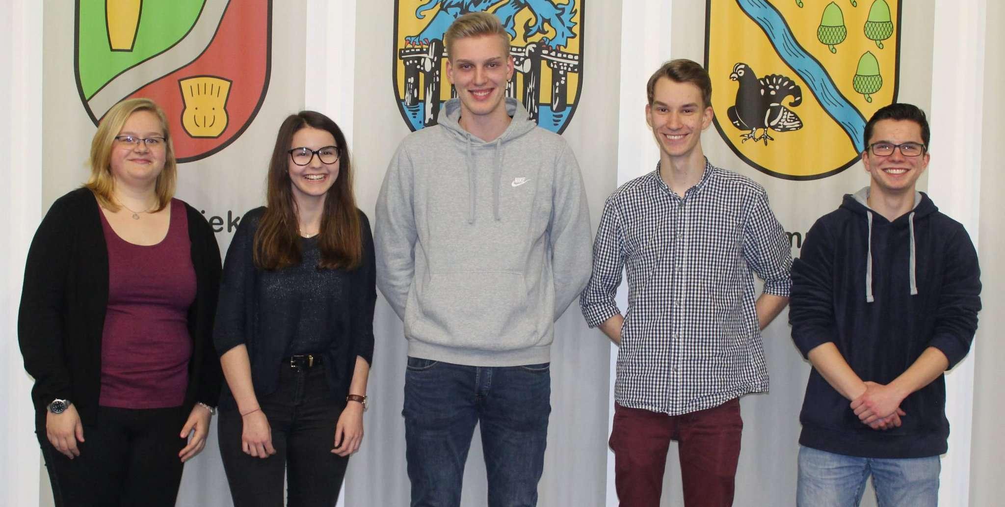 Sophie Bellmann (von links), Kathena Behrens, Ben Renken, Tobias Steinke und Jörg Leskien sehen den BFD als eine wertvolle Erfahrung. Foto: Ann-Christin Beims