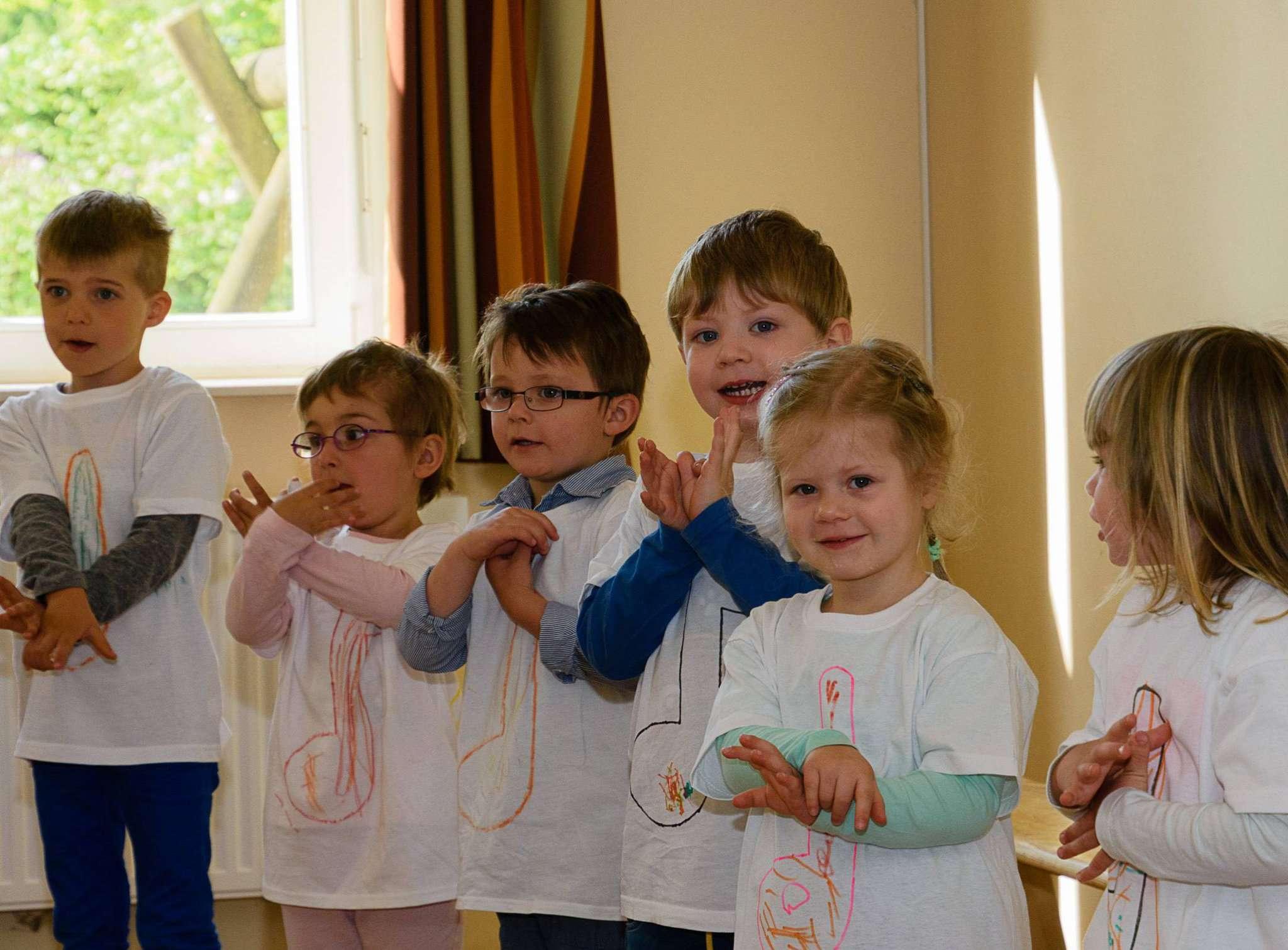 Mit viel Eifer haben sich die Kinder auf ihren großen Auftritt vorbeitet.