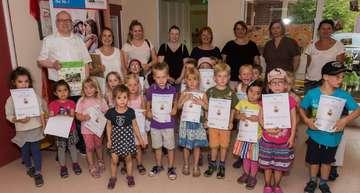 Kindergarten Regenbogen führt Ernährungsprojekt durch  Von KlausDieter Plage