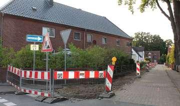 Baustelle in der Schulstraße bis zu den Herbstferien