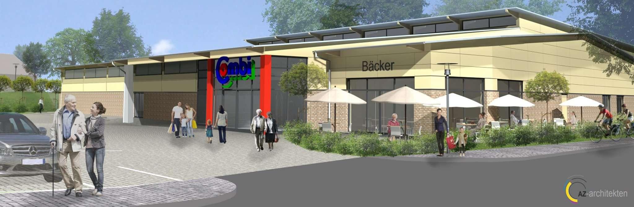 Kommt er oder kommt er nicht? Wenn es nach der Gemeinde Lauenbrück geht, solle der geplante Combi-Markt in Scheeßel mindestens verkleinert werden. Foto: AZ-Architekten