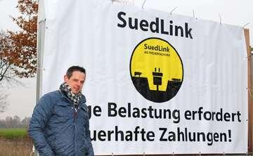 Landwirte Aktionstag zur geplanten Stromtrasse Suedlink  Von AnnChristin Beims