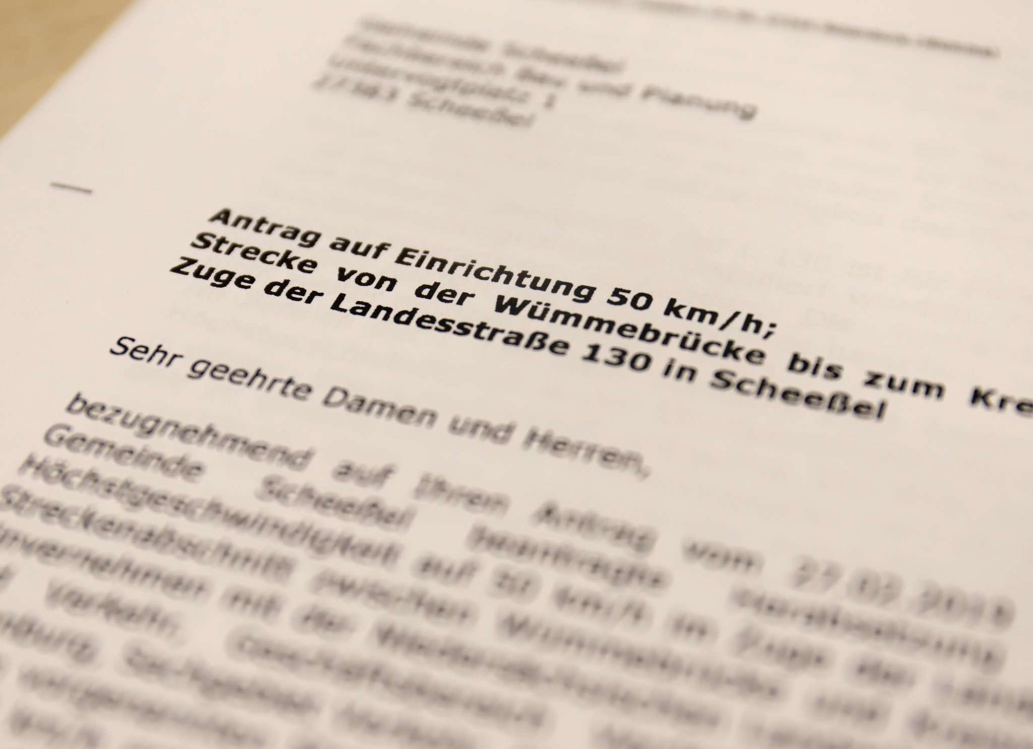 Der Landkreis Rotenburg hat noch einmal schriftlich seine Ablehnung an die Gemeinde Scheeßel geschickt.