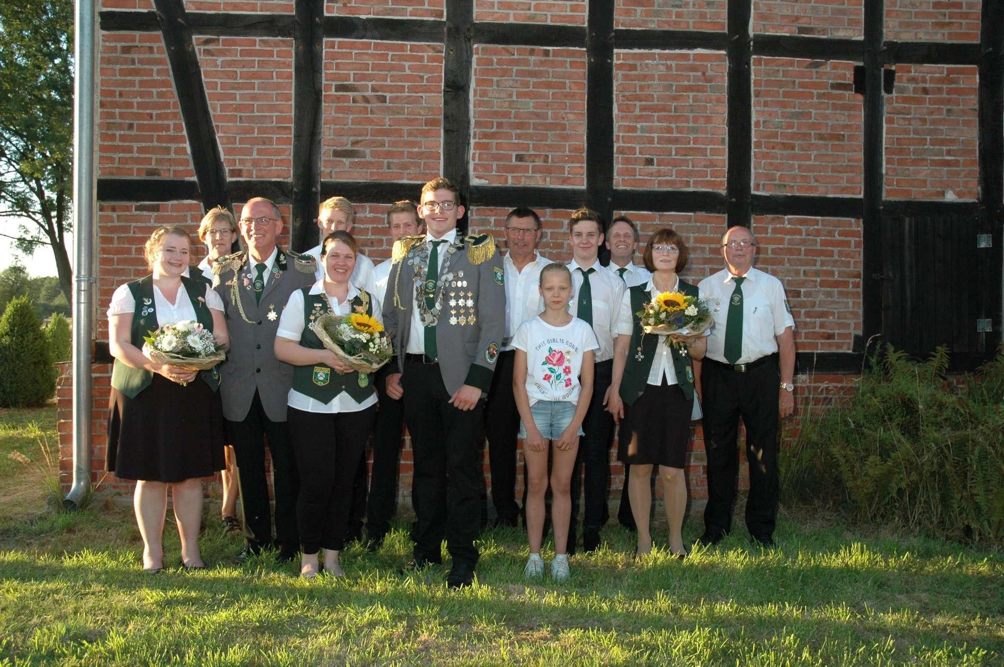 Die neue Königsfamilie von Wohlsdorf Foto: SV Wohlsdorf