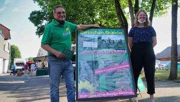 Grüne informieren auf Wochenmarkt über Volksbegehren