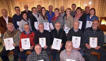 Auszeichnungen für zahlreiche Mitglieder