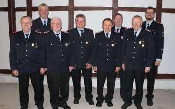 FeuerwehrVersammlung mit Ehrungen und Beförderungen