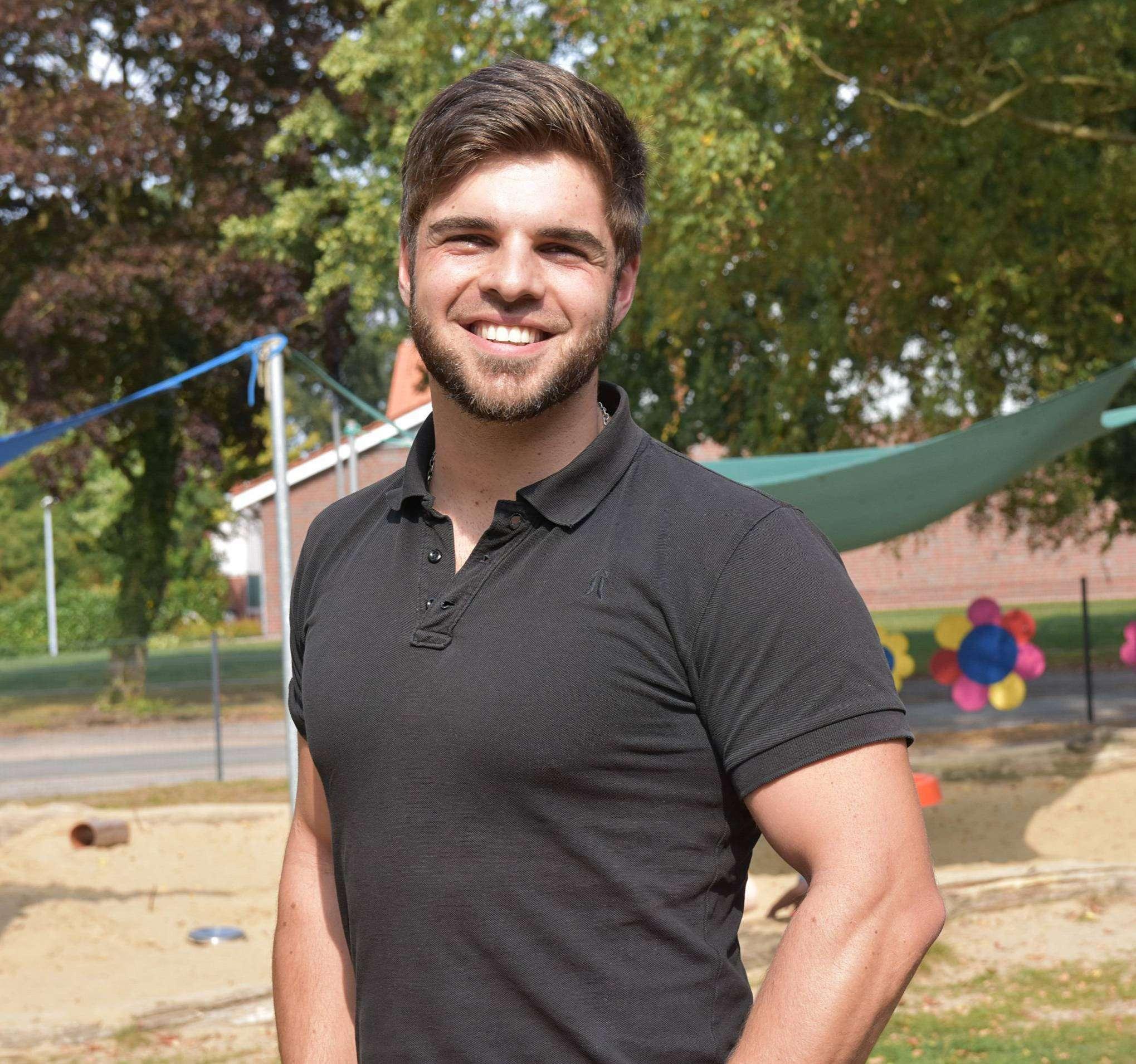 Simon Martens hat seinen Job als neuer Leiter des Kindergartens