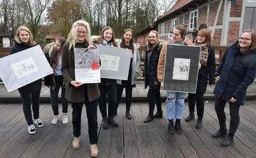 KunstAbschlussarbeiten der KGS in der Wassermühle zu sehen