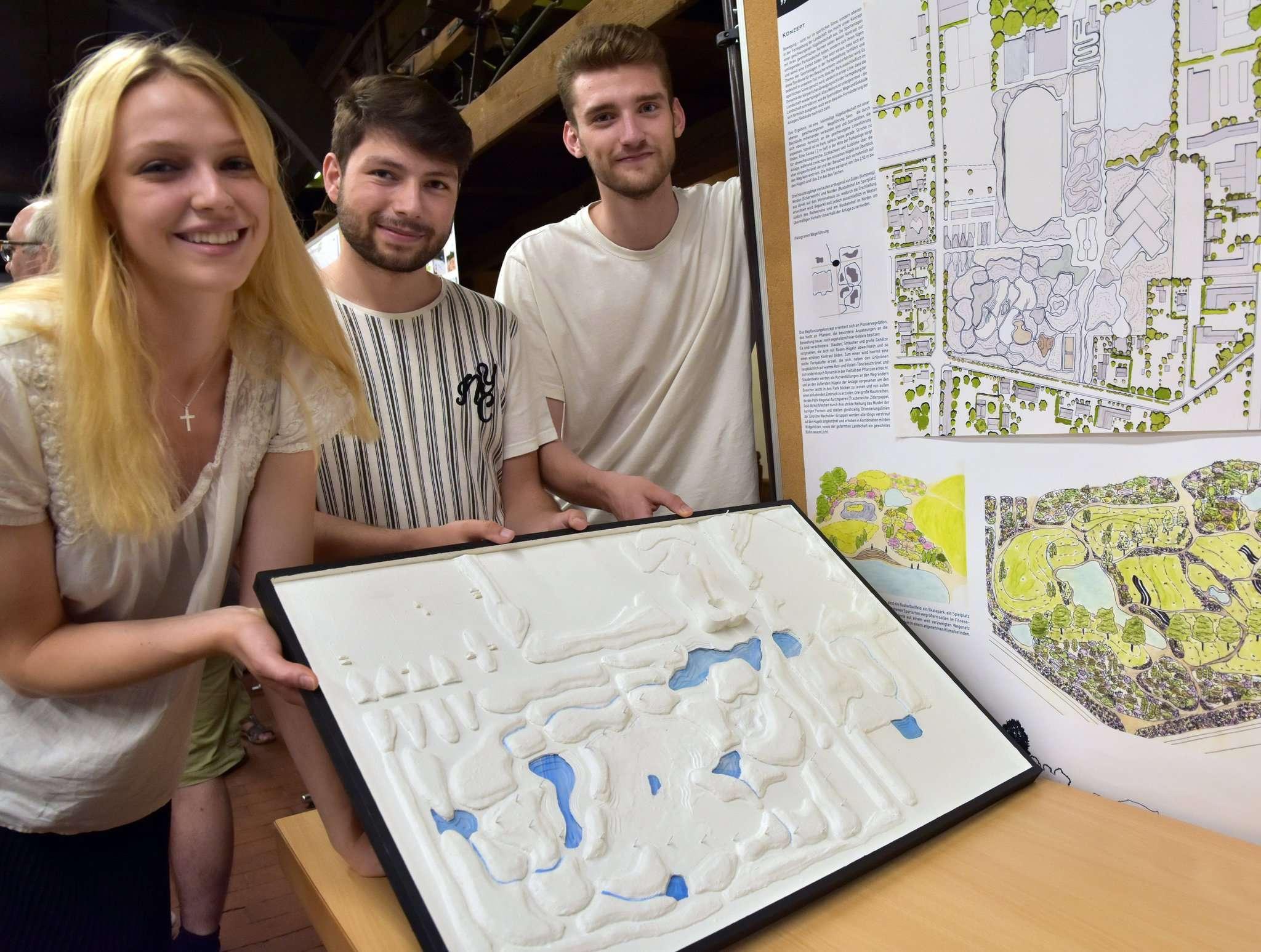 Thekla Streck, Nuri Güdel und Jonathan Mohl haben mit ihrem Entwurf