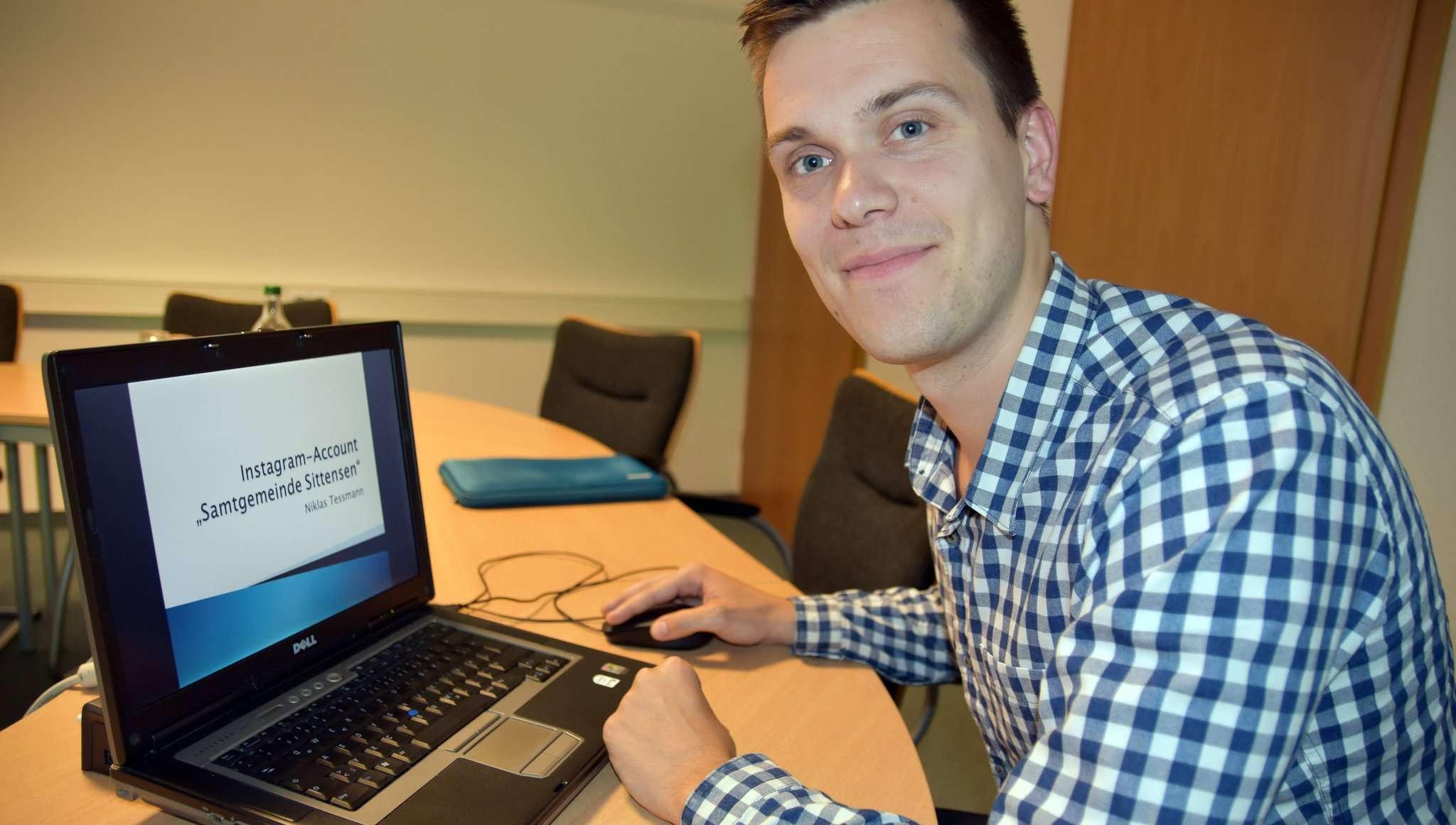 Wirtschaftsförderer Niklas Teßmann möchte für gutes Marketing auch die digitalen Medien nutzen. Foto: Heidrun Meyer