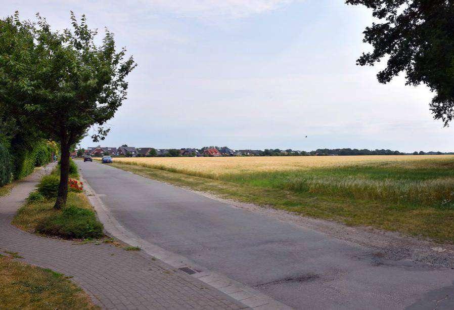Im Bereich der Stuhmer Straße entsheht das neue Baugebiet. Foto: Heidrun Meyer