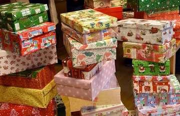 Weihnachten im Schuhkarton Sammelstelle im Gemeindehaus