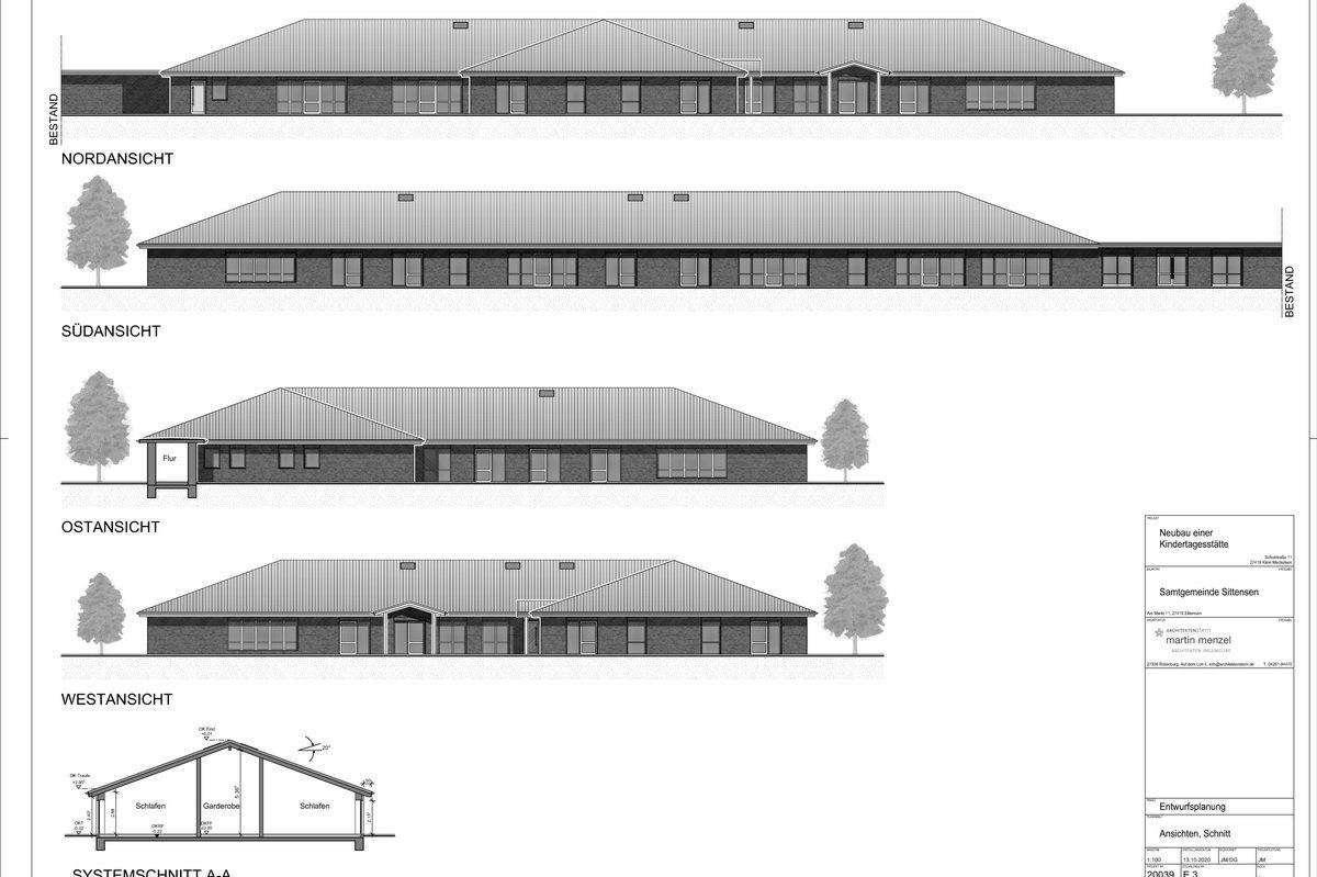 So soll die neue Kindertagesstätte in Klein Meckelsen einmal aussehen.