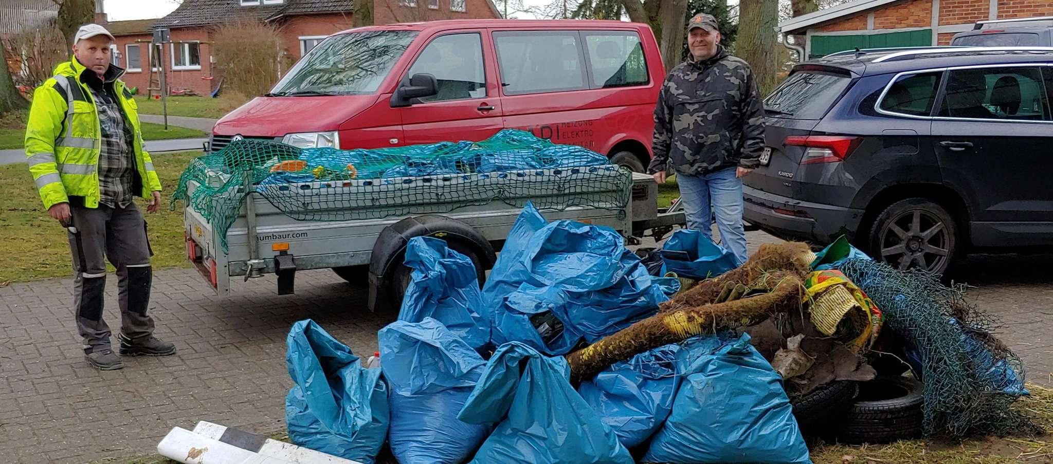 Über drei Kubikmeter Müll kamen bei der Bürgeraktion zusammen.